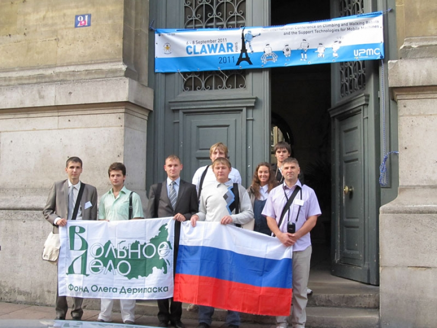 Winners of the Robofest-2011 festival took part in the 14th annual International CLAWAR-2011 conference in Paris